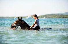 Murter Riding Croatia - swim with horses