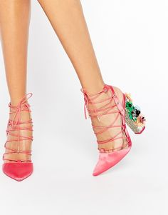 ASOS COLLECTION ASOS PRINCIPAL Lace Up Pointed Heels