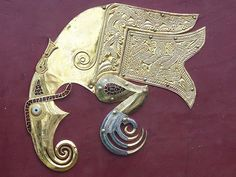 Raven Shield Mount, Anglo-Saxon, early 7th century AD, From Mound 1, Sutton Hoo, Suffolk, England