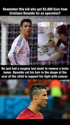 A family contacted C. Ronaldo and asked him for a signed Jersey which they  could sell to make enough many for their son s brain surgery. 79b1704a7