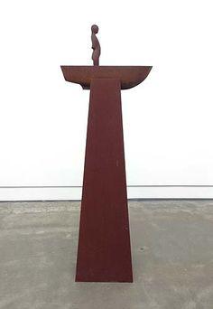 Peter Tilley  The Pilot 2013  cast iron, corten steel 180 x 60 x 40cm