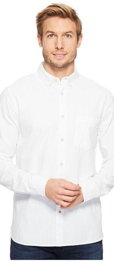 Joe's Jeans Sandoval Vintage Japanese Oxford (White) Men's Long Sleeve Button Up - Joe's Jeans, Sandoval Vintage Japanese Oxford, A17VOW7902-100, Apparel Top Long Sleeve Button Up, Long Sleeve Button Up, Top, Apparel, Clothes Clothing, Gift, - Fashion Ideas To Inspire