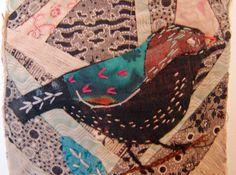 Thread and Thrift: Crazy Patchwork Appliqued Birds
