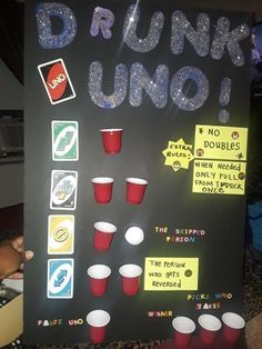 Rules to the Drunk Uno game alkohol Adult game night Bridal Party Games, Fun Bridal Shower Games, Bachelorette Party Games, Bridal Shower Party, Wedding Showers, Drinking Games For Parties, Adult Party Games, Adult Games, Games For Girls