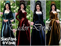 Tudor Dress by Vanessa - Sims 3 Downloads CC Caboodle