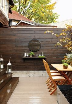 Small backyard makeover via Canadian House and Home