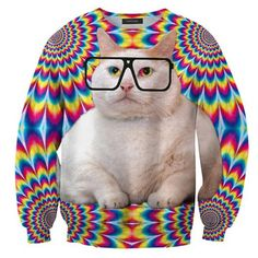 Fat Cat Sweatshirt Unisex, $48, now featured on Fab.