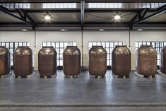 For the maceration of the gin in the Monkey 47 distillery by PHILIPP MAINZER, stoneware barrels are used Photo: Ingmar Kurth. Distillery, Brewery, Black Forest, Stoneware, Monkey, Architecture, Gallery, Projects, Pictures