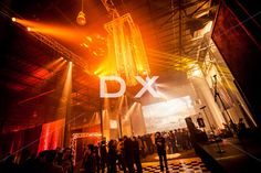Custom gold chandelier by DX Design