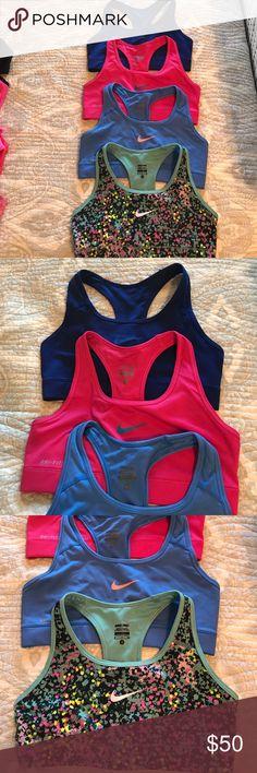 Nike Pro Sports Bra Bundle Excellent condition, Nike Pro sports bra bundle. Very little wear, no damage. Nike Intimates & Sleepwear Bras