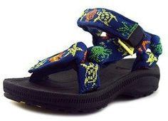 Teva Hurricane 2 Toddler Open-toe Canvas Blue Comfort Sandals Shoes.