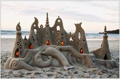 Magical sand sculpture!