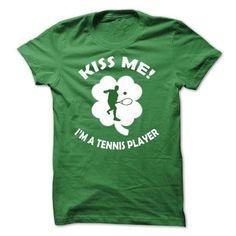 Kiss me - I am a Tennis Player #university tee #tshirt fashion. LOWEST SHIPPING:  => https://www.sunfrog.com/LifeStyle/Kiss-me--I-am-a-Tennis-Player.html?id=60505