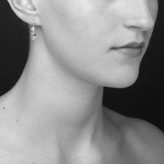 Amba 14k White Gold earrings