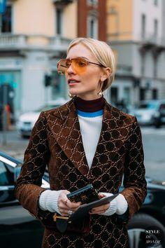 Viktoria Rader between the fashion shows.
