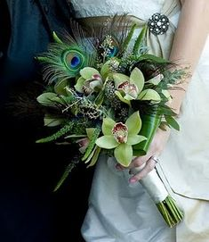 Peacock Feather Bouquets and Floral/Flower Arrangements -