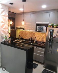 Kitchen Cabinet Design, Interior Design Kitchen, Kitchen Decor, Home Design Decor, Dream Home Design, Small House Floor Plans, Bedroom Door Design, Small Apartment Kitchen, Home Decor Furniture