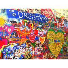 Visit the John Lennon wall in Prague. Prague Cz, John Lennon Wall, Artist Loft, Bucket List Destinations, The Dreamers, Faces, Travel, World, Viajes