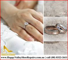 """Design your own unique engagement rings and custom wedding bands at Happy Valley Shoe Repairs today! CALL us @(08) 8322-2611 or VISIT our store at Shop 13b Happy Valley Shopping Ctr Kenihans Rd, Happy Valley"""