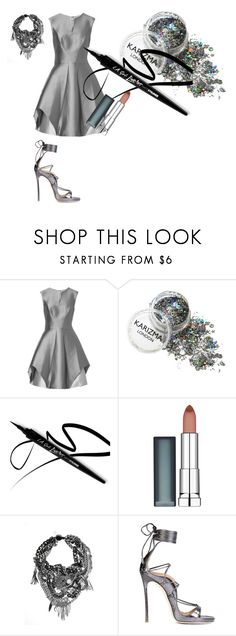"""""""Sparkly Stuff!"""" by sizzlelupi on Polyvore featuring Halston Heritage, Maybelline and Dsquared2"""