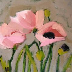 "Daily Paintworks - ""oriental pink poppies"" - Original Fine Art for Sale - © Angela Moulton Paintings I Love, Original Paintings, Floral Paintings, Pink Poppies, Arte Floral, Art And Illustration, Abstract Flowers, Love Art, Painting Inspiration"