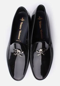Vivienne Westwood Skull & Crossbone Men's Moccassin Black  #mens #fashion #GQ