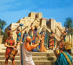 The Ziggurat is that of Ur, the king appeared with Assyrian costumes whereas the…