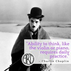 """Ability to think, like the violin or piano, requires daily practice."" - Charlie Chaplin  #art #arte #artistic #artwork #artists #artplanet #artistsrunthisplanet #create #creative #creativity #draw #drawing #drawings #illustration #paint #painting #sketch #communicate #inspiration #motivation #upliftmankind #positivity #quotes #love #truth #power #life #love #beautiful #amazing #superartist #success #winning #youcandoit #nevergiveup #charliechaplin #chaplin #practice Charlie Chaplin, Never Give Up, Drawing S, Violin, Piano, Creativity, Cinema, Sketch, Success"
