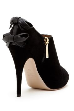 Valentino Dual Bow Peep Toe Bootie on HauteLook. Not a big fan of booties but I gotta admit these are pretty awesome.