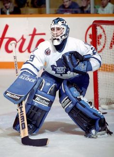 "One of My favourite goalies of all time.Felix ""The Cat"" Potvin, Toronto Maple Leafs Goalie Gear, Goalie Mask, Hockey Goalie, Field Hockey, Ice Hockey Teams, Hockey Stuff, Montreal Canadiens, Nfl Highlights, Maple Leafs Hockey"