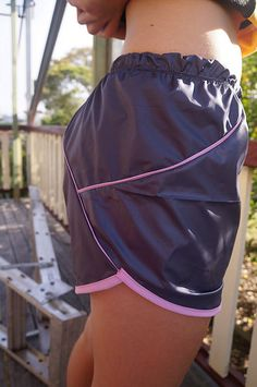 Melissa was very apologetic about sending all her pattern testers a running shorts pattern to try out in September, but it worked out just f. Pdf Sewing Patterns, Mesh Fabric, Running Shorts, Patterned Shorts, Elastic Waist, Gym Shorts Womens, Daughter, Collections, Check