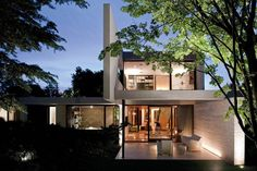 "57STUDIO Designs An ""H"" Shaped House // Santiago, Chile"