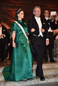 Princess Sofia of Sweden and Professor Jean-Pierre Sauvage, laureate of the Nobel Prize in Chemistry