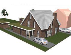 Een nieuw ontwerp voor een 2 onder 1 kap woning.