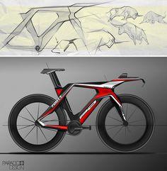 Time trial bike concept rendering by Lachezar Ivanov.