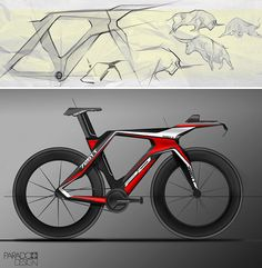 Time trial bike concept rendering by Lachezar Ivanov.