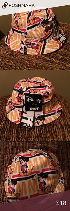 Mickey Mouse Bucket Hat By neff NWOT This is a must have for a Disney vacation or any Mickey fan! From the Disney Collection by neff. 100% polyester. One size fits most. This is new, took the tags off to pack for vacation and left it behind! Neff Accessories Hats