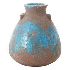 "DEMPO Vase Aqua Medium,Ø7.5x9.5""H - Light & Living"
