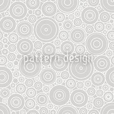 Secession Grey designed by Viktoryia Yakubouskaya available on patterndesigns.com Vector Pattern, Pattern Designs, Patterns, Circle Shape, Pattern Fashion, Surface Design, Geometric Shapes, Circles, Grey