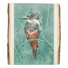 #country - #Cute Watercolor Kingfisher Bird Nature Art