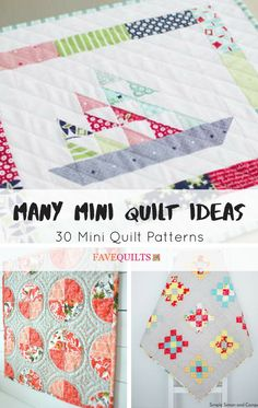 Many Mini Quilt Ideas: 30 Mini Quilt Patterns | If you're looking to make a mini quilt, doll quilt, or wall hanging, check out this collection for inspiration!