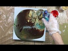 ( 397 ) Acrylic pouring dark colours - YouTube