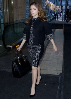Anna Kendrick attending the Mercedes-Benz Fashion Week Fall/Winter 2014 in New York City on February 11, 2014