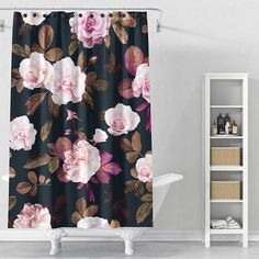 Floral shower curtain Customized a special shower curtains will make your life convenient and brighten your bathroom. Floral Bathroom, Custom Made Curtains, Floral Shower Curtains, Curtains, Floral Curtains, Shower Curtain, Curtain Decor, Flower Shower, Pink Showers