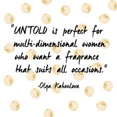 The gorgeous, #UNTOLDArden model @OlgaKaboulova shares why she loves our signature scent...