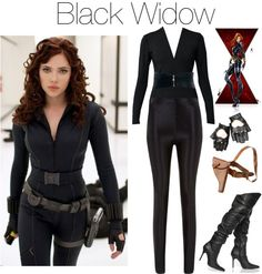 """black widow"" by grungeclothes ❤ liked on Polyvore                                                                                                                                                                                 More"