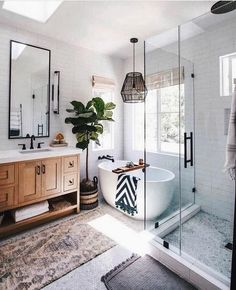 home loft Bathroom Inspiration // Loft Interior Boho Bathroom, Bathroom Renos, Bathroom Renovations, Master Bathroom, Home Remodeling, Bathroom Ideas, Kitchen Remodeling, French Bathroom, Bathroom Vintage