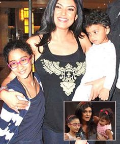 7 Bollywood Celebs and their Adopted Kids - Sushmita Sen