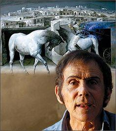Los caballos y el maestro.