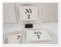 12 Vintage Table Numbers Wedding Table Cards White by greenridge
